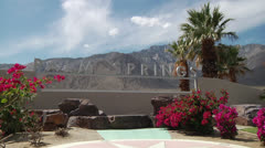 Welcome to Palm Springs Time Lapse Stock Footage