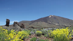 Tenerife, Teide and Cinchado rock landscape Stock Footage