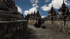 Borobudur. Mahayana Buddhist Temple. Java, Indonesia. - stock footage