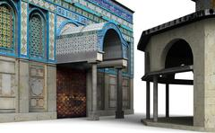 dome of the rock 7 - stock illustration