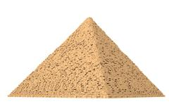 Giza pyramid complex 7 Stock Illustration