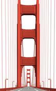 Golden gate bridge 1 Stock Illustration
