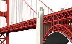 Golden gate bridge 2 Stock Illustration