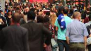 Stock Video Footage of Crowd of People Walking in Central London 5 HD