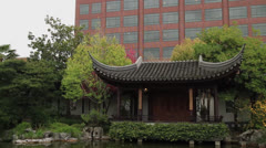Lan Su Chinese Garden 03 Stock Footage