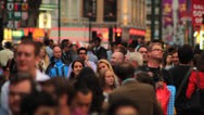 Stock Video Footage of Crowd of People Walking in Central London 2 HD