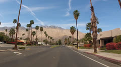 Palm Springs traveling shot - stock footage