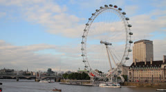 The London Eye - Wide HD Stock Footage