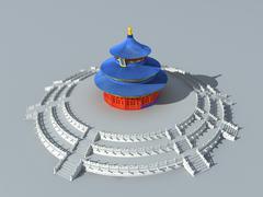 Temple of heaven 6 Stock Illustration