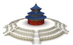 temple of heaven 9 - stock illustration