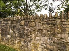 Aged stonewall Stock Photos