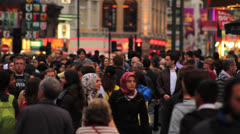 Crowd of People Walking in Central London 3 HD Stock Footage