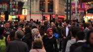 Stock Video Footage of Crowd of People Walking in Central London 3 HD