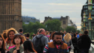 Stock Video Footage of Crowd of People Walking in Central London 4 HD