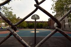 Harlem basketball field Stock Photos