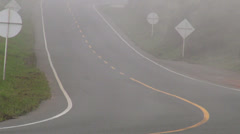 Driving, Fog, Smog, Foggy, Mist - stock footage