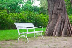 chair in the garden - stock photo