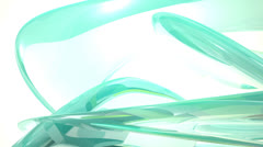 Looping abstract background (Rendering high-quality glass surfaces) Stock Footage