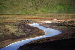 Milky blue sulphur stream Stock Photos