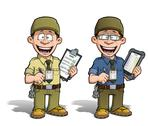 Stock Illustration of warehouse - prison - courier - zoo -- manager - khaki