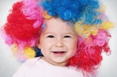 baby clown - stock photo