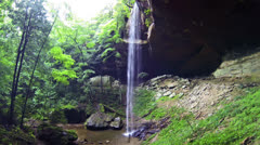 Cinematic Yahoo Falls Waterfall 1 HD Stock Footage