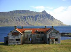 Stock Photo of derelict building iceland