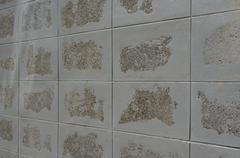 tiled block wall texture - stock photo