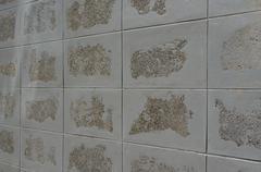 Tiled block wall texture Stock Photos