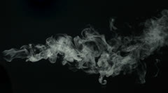 Stock Video Footage of Smoke on black background, Slow Motion