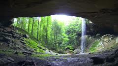 Cinematic Yahoo Falls Waterfall 2 HD Stock Footage