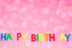 Stock Illustration of birthday candles on the  pink  background