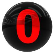 ball with the number zero - stock illustration