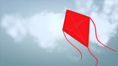 Fly a kite with alpha matte. Stock Footage
