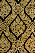 thai floral pattern painting - stock photo