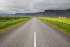 Highway through Iceland Stock Photos