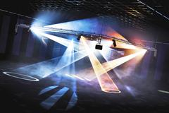 Club Disco Light Show - stock illustration