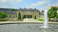 Orangerie in Gera, Thuringia Germany Stock Footage