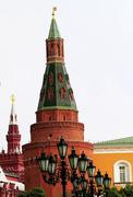 Towers of Kremlin - stock photo