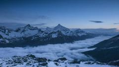 Mountains above Zermatt, Switzerland Ultra HD Stock Footage