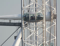 London eye closeup england recreation technology Stock Footage