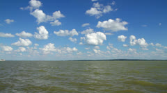 Landscape from the lake Balaton,Hungary Stock Footage