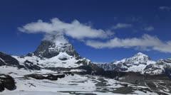 Matterhorn, Zermatt, Switzerland Stock Footage