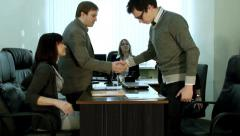 Beginning of the meeting - stock footage