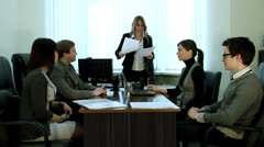 Conclusion of contract - stock footage