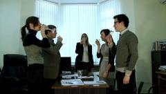 Stock Video Footage of The team celebrates success