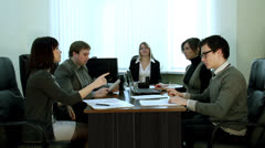 The conflict discussion - stock footage