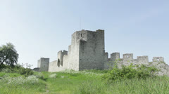 Visby citywall Stock Footage