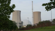 Stock Video Footage of Nuclear power station Grohnde
