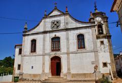 old renaissance church of espinhal - stock photo